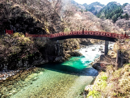 Shinkyo bridge, Nikko, Japan photo