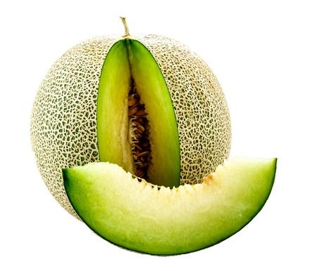 honeydew: Japanese melon with cut piece