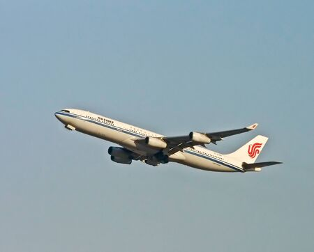 Air China airplane take off of Shanghai international airport