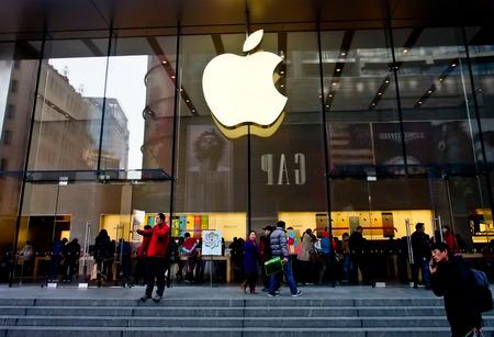 南京路、上海、中国のアップル ストア 報道画像