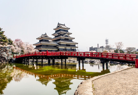 Matsumoto castle with blue sky, Japan Editorial