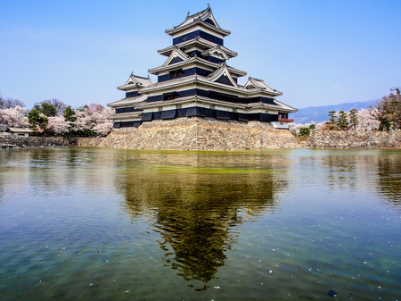 osaka castle: Matsumoto castle with blue sky, Japan Editorial