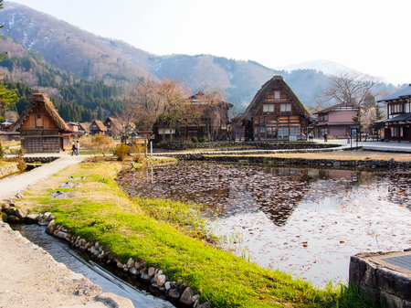 shirakawa go: Japanese gassho house at UNESCO world heritage Shirakawago village, Japan