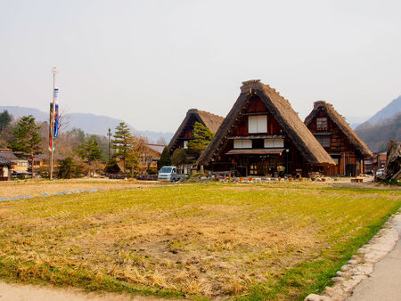 shirakawago: Japanese gassho house at UNESCO world heritage Shirakawago village, Japan