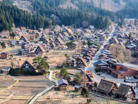 shirakawago: landscape of Shirakawa-go village. This village is UNESCO world heritage site in Japan.
