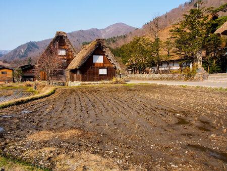 Japanese gassho house at UNESCO world heritage Shirakawago village, Japan