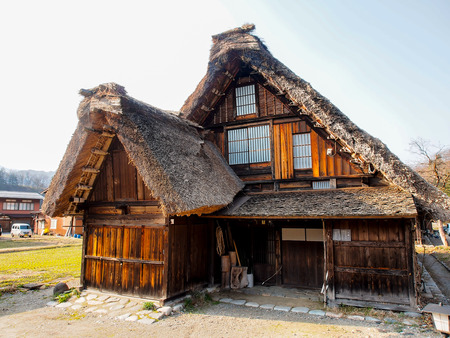 ogimachi: Japanese gassho house at UNESCO world heritage Shirakawago village, Japan