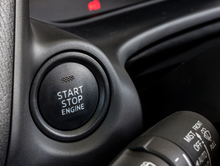 car start stop engine switch photo