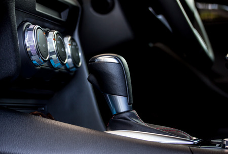 modern car automatic gear shift photo