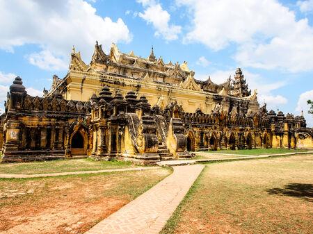 nu: Mahar Aung Mye Bon San Monastery (also known as Me Nu Oak Kyaung) in the ancient Royal City of Innwa (Ava) in Myanmar (Burma)