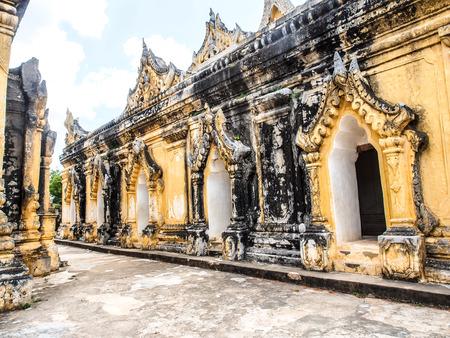 nu: Maha Aung Mye Bon Zan Monastery in Ava, Myanmar Stock Photo