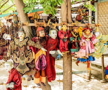 toy shop: Burmese puppet in souvenir shop in Mandalay, Myanmar