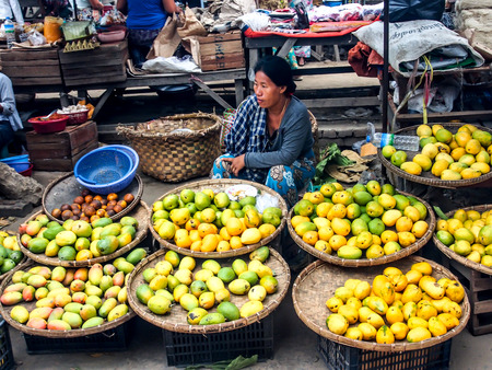 morning market in Mandalay, Myanmar