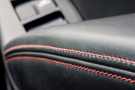 vehicle seat: leather decoration in a car Stock Photo