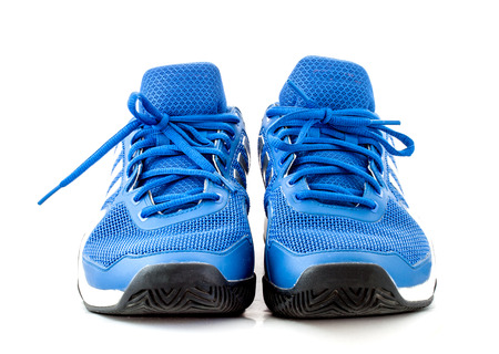 tennis shoe: modern tennis shoe on white background Stock Photo