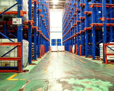 chemical warehouse Foto de archivo