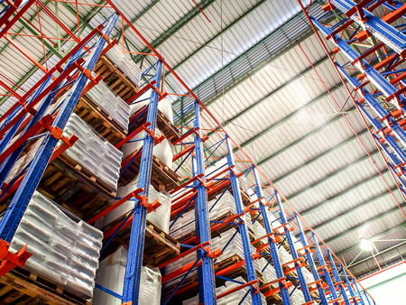 warehouse equipment: high rack in warehouse