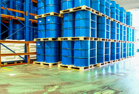 chemical drum in wharehouse
