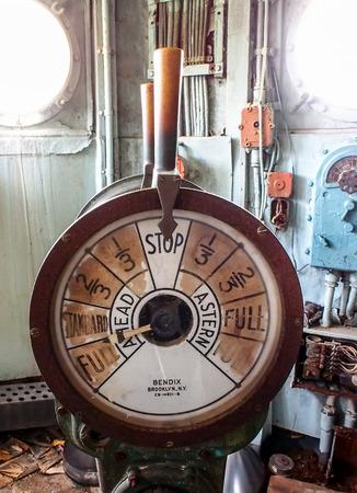 telegraaf: telegraaf van een oude slagschip Stockfoto