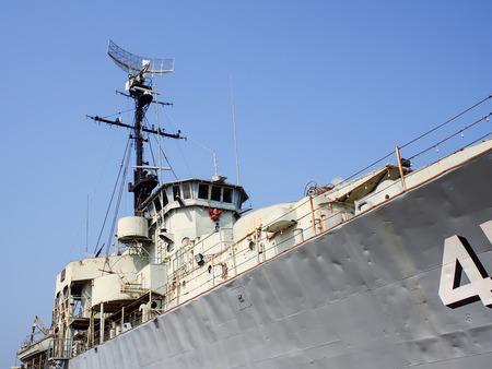 a battleship: old battleship museum in Thailand