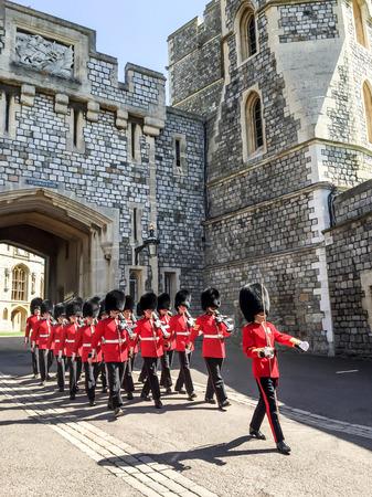 royal guard: royal guard at Windsor castle, London, UK Editorial