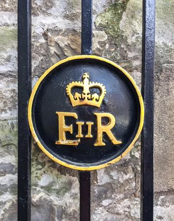 queen elizabeth ii: The Royal emblem of queen Elizabeth II of England