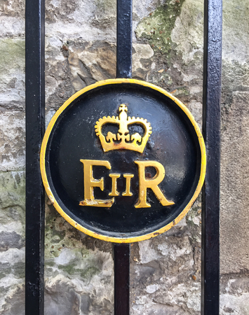 queen elizabeth: The Royal emblem of queen Elizabeth II of England