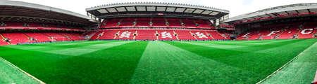 liverpool: Anfield stadium, Liverpool, UK