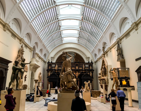 art museum: Victoria and Albert museum, London, UK Editorial