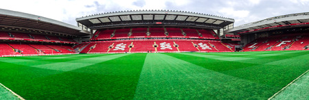 Anfield stadium of LFC in Liverpool, UK Editorial