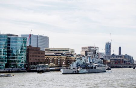 battleship: Belfast battleship museum in London, UK Editorial