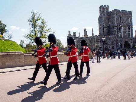 royal guard: royal guard in Windsor castle, UK Editorial