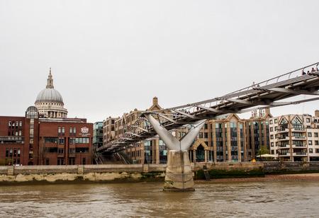 uk: Millennium bridge in London, UK