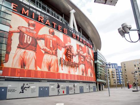 club soccer: Emirate stadium, London, UK