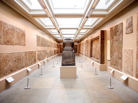 art museum: Assyrian art exhibition in The British Museum, London, UK
