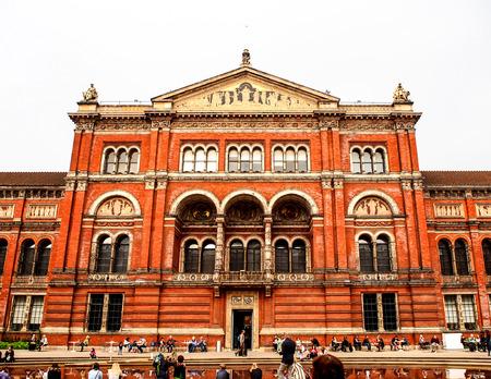 front facade of Victoria and Albert museum, London, UK Redakční
