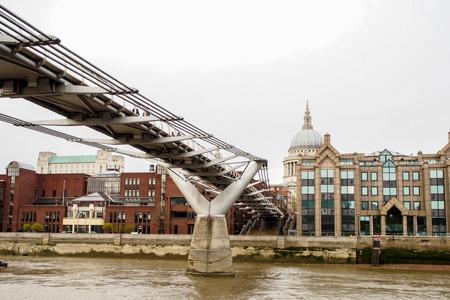 millennium: Millennium bridge, London, UK Stock Photo