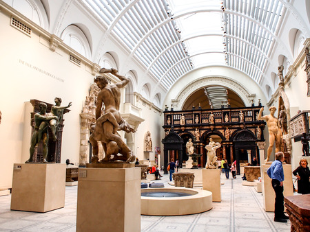 ancient sculpture exhibition at Victoria and Albert museum, London, UK