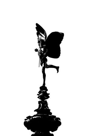 eros: Eros of Piccadilly Circus on white background