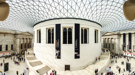 art museum: main hall of The British Museum, London, UK