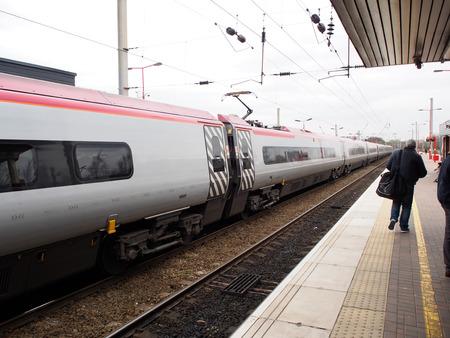 eurostar: train station in Liverpool, UK Editorial