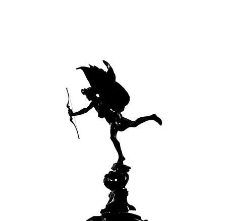 eros: Eros statue on white background Stock Photo