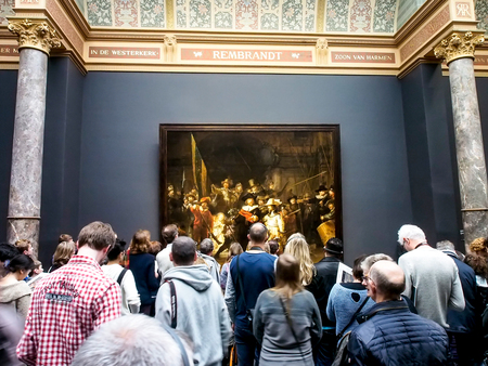nightwatch, the famous painting in Rijksmuseum, Amsterdam, Netherlands