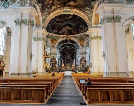 st: interior of St. Gallen cathedral, Switzerland