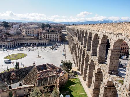 ancient Roman aqueduct, Segovia, Spain