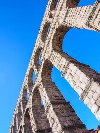 Roman ancient aqueduct, Segovia, Spain