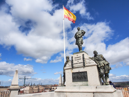 statue at the top of Alcazar, Toledo, Spain