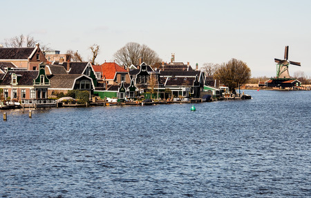 traditional windmill at Zaansecan, Netherlands