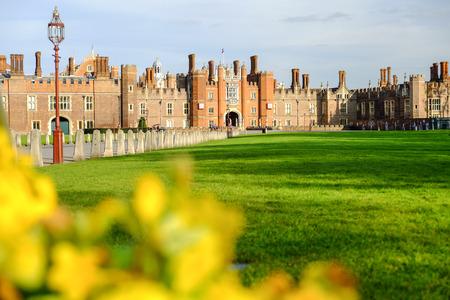 Hampton court palace with blue sky, United Kingdom