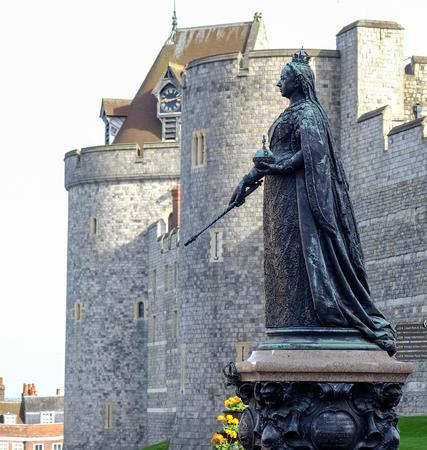 Queen Victoria sculpture at Windsor castle, UK